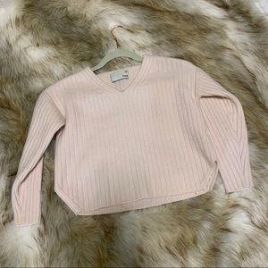 Aritzia cropped v neck sweater
